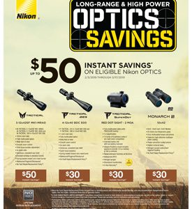 LONG RANGE & HIGH POWER OPTICS SAVINGS