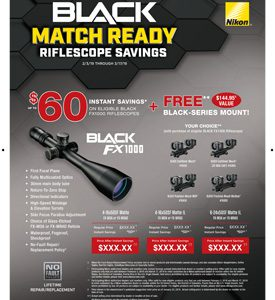 BLACK MATCH READY RIFLESCOPE SAVINGS