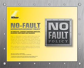 No Fault Policy Certificate